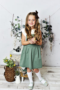 Softest Pinafore - Sage
