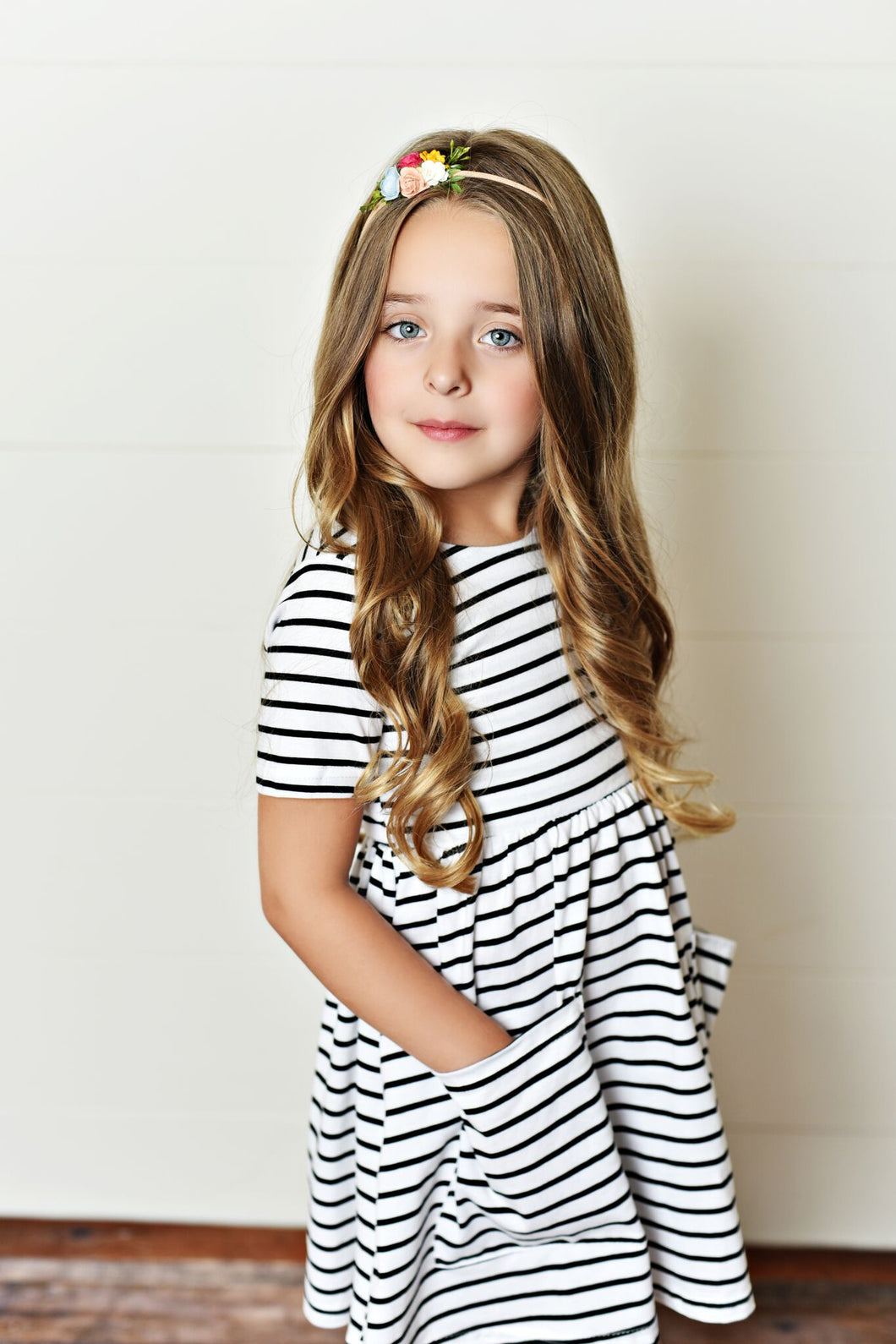 Striped Black & White Twirl