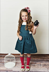 Scarlett Pinafore - Teal