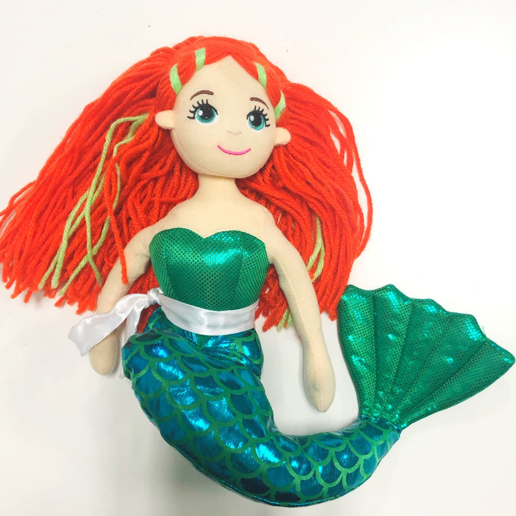 Final Sale - Plush Mermaid Doll