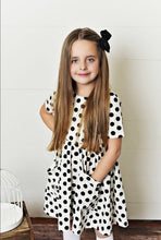 Load image into Gallery viewer, White Polka Dot Twirl Dress