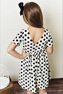 White Polka Dot Twirl Dress