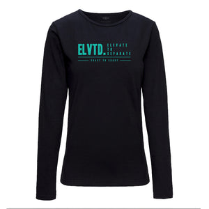 COAST TO COAST LONG SLEEVE TEE - BLACK