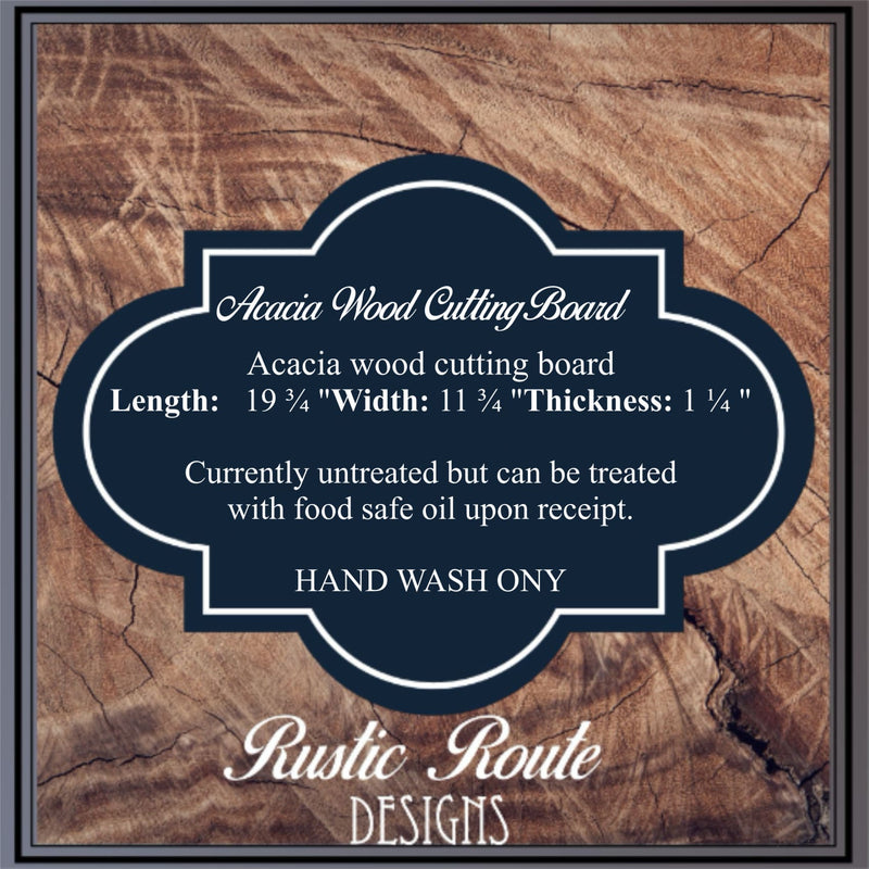 Acacia Wood Cutting Board - All Products
