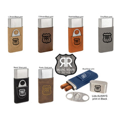 Cigar Case & Cutter- Custom Design- Personalized Cigar Holder - All Products