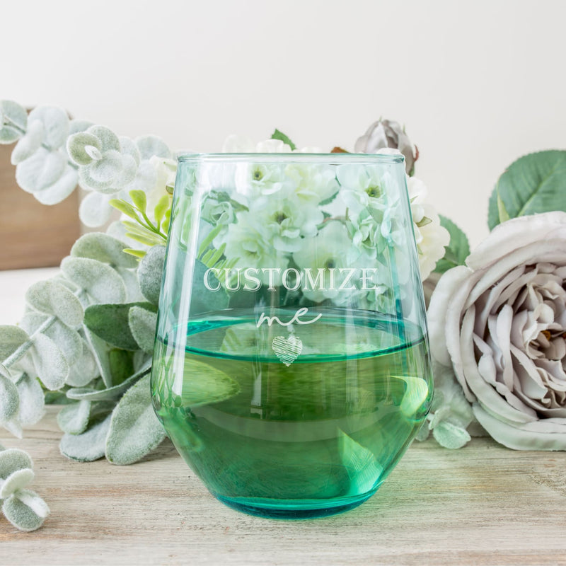 Colored Stemless Wine Glass - All Products