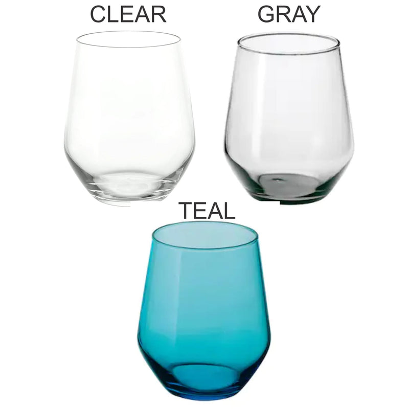 Colored Stemless Wine Glasses - All Products