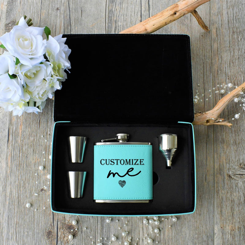 Flask Gift Box - Custom Engraved Flask Glasses Funnel & Gift Box - All Products