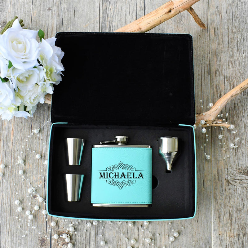 Flask Gift Box- Personalized Flask Gift Set - All Products