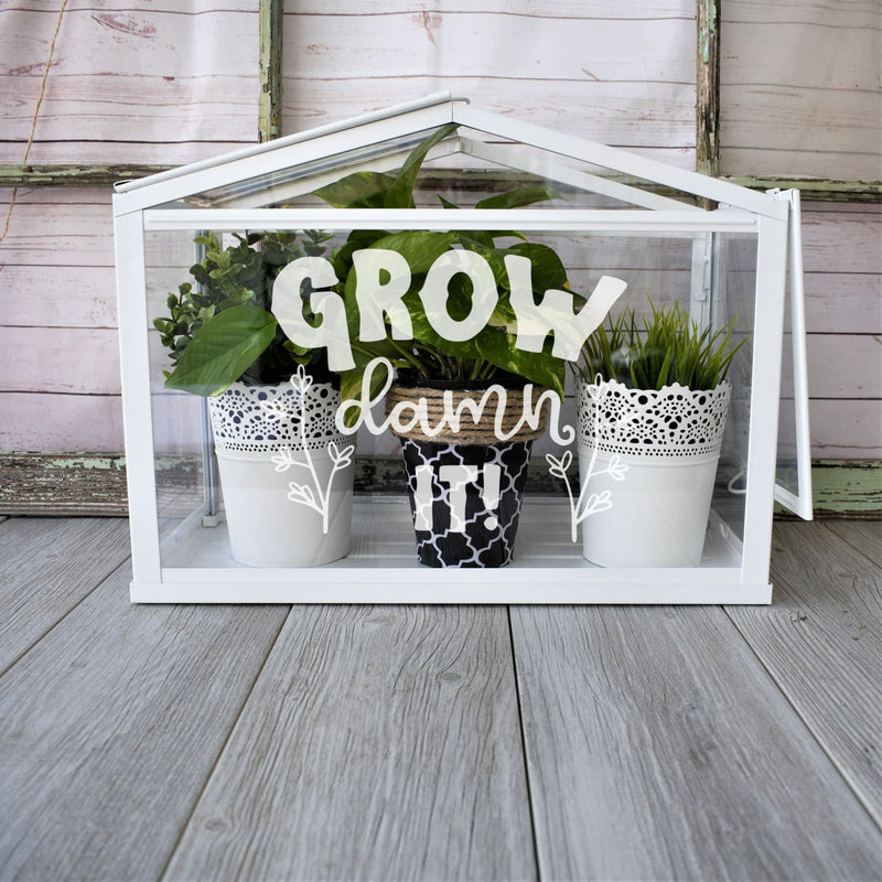 Indoor Greenhouse- Personalized Herb Garden- Funny Gift - All Products