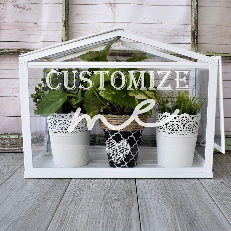 Indoor Greenhouse- Personalized Table Top Greenhouse - All Products