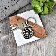 Key Chain- Happy Camper Keychain - All Products