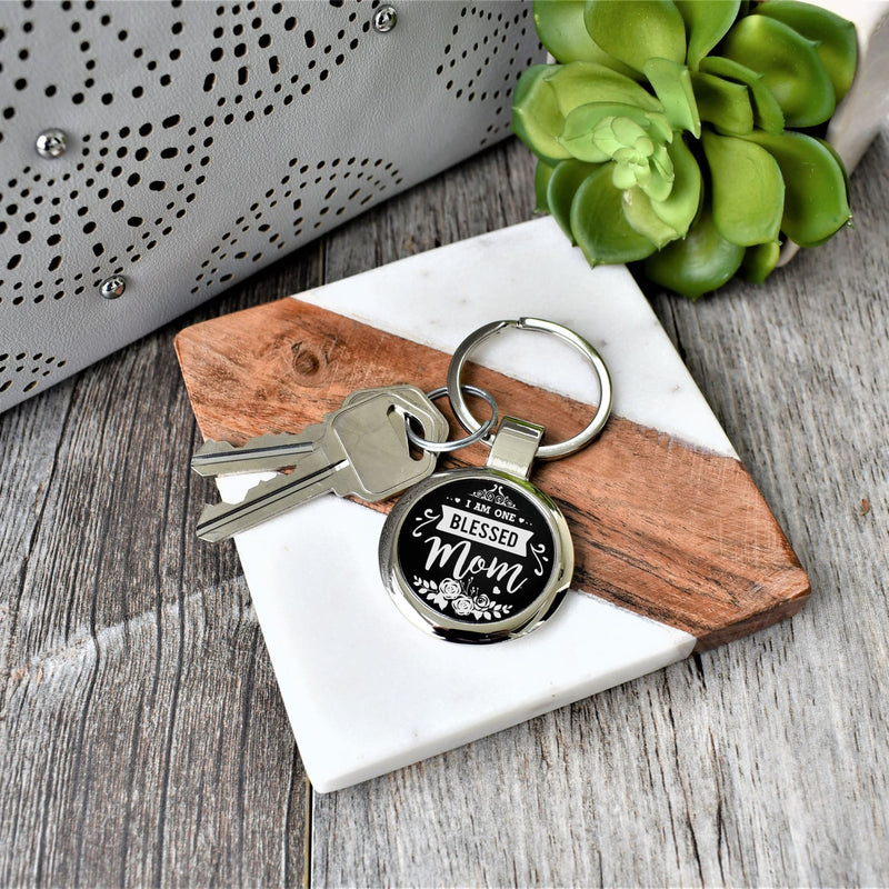 Key chain- I am one blessed mom - All Products