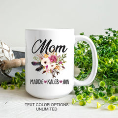 Mom Mug With Kids Names Mother's Mug Kids Names Mug - All Products