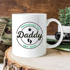 New Dad Mug Promoted To Daddy Mug Pregnancy Announcement Mug - All Products