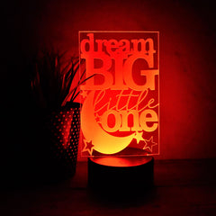 Night Light- LED Light- Dream Big Little One- Nursery Light - All Products