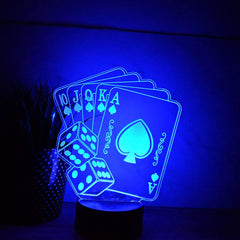 Night Light - LED Light - Playing Cards Light - All Products