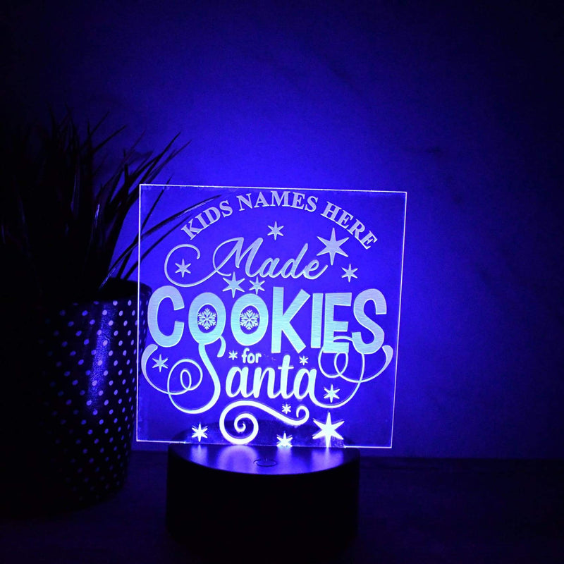 Night Light - LED Light - Santa Cookies Light - Christmas Light - All Products