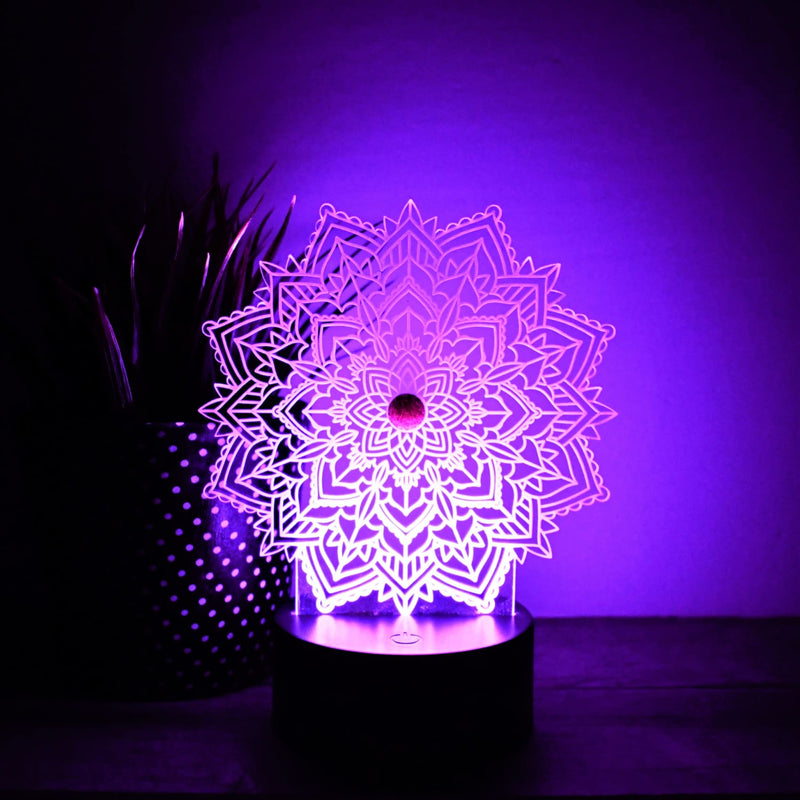 Night Light- Mandala LED Night Light - All Products