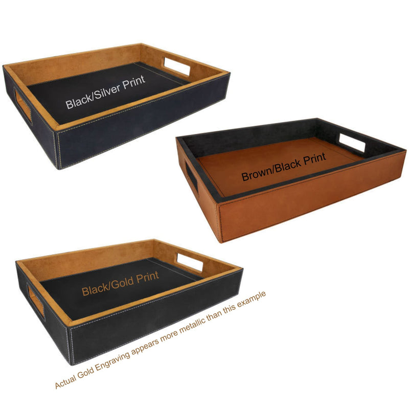 Serving Tray - Leather Engraved Custom Serving Tray - All Products