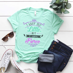 TShirt - I may be little but I am Fierce Triblend Tee - All Products