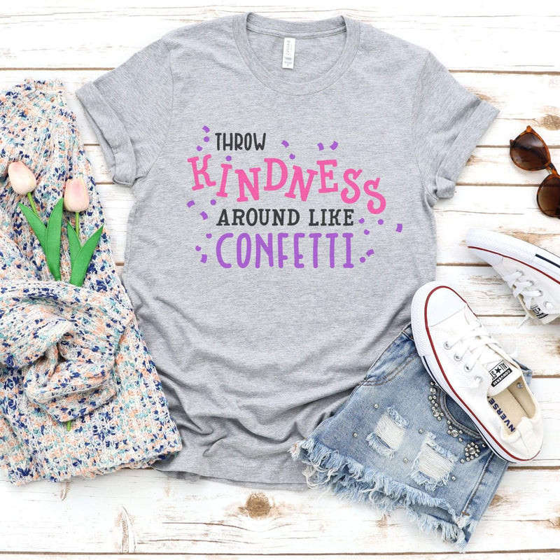TShirt - Throw Kindness around like Confetti Triblend Tee - All Products