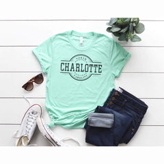 TShirt - Charlotte City Triblend Tee- - All Products