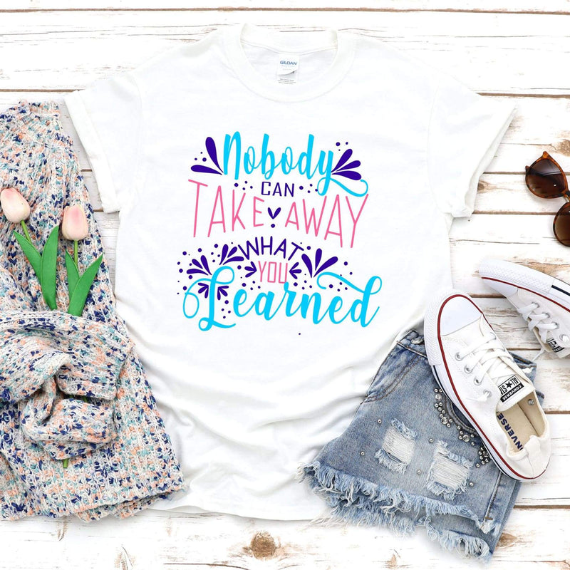 TShirt - Nobody Can Never Take Away What I Have Learned TriBlend tee - All Products
