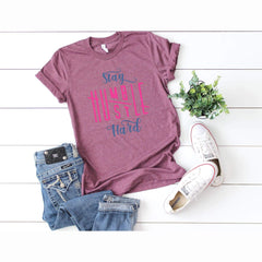 TShirt - Stay Humble Hustle Hard Triblend Tee - All Products