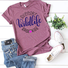 TShirt - Support Wildlife Raise Kids Triblend Tee - All Products