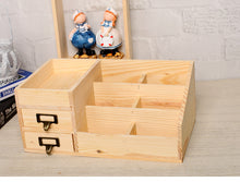 Woody Cosmetics Box Drawer Type Multi-functional Desktop Organzier Container Jewelry Storage Box