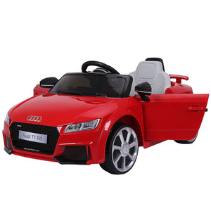 Red 12V Audi TT RS Electric Kids Ride On Car Licensed Remote Control MP3