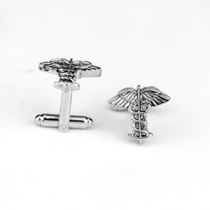 Medical Symbol Caduceus Cufflinks women men shirt accessories jewelry accessories for doctors and nurses