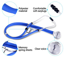 Dual Head Stethoscope Medical  Double Head Long Soft Tube