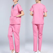 Scrubs Medical Uniforms Women Short Sleeve Nurse Uniform Sets Breathable Hospital Surgical Clothing Workwear for Dental Clinic