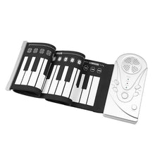 VKTECH 49 Keys Folding Piano Montessori Roll Up Portable Folding Electronic Pianos Flexible Keyboard Musical Toys