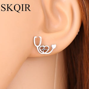 Medical Jewelry Gold Stainless Steel Earring