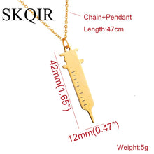 Medical Syringe Pendant Necklaces For Nurse/Doctor Gift Gold Chain Stainless Steel Necklace
