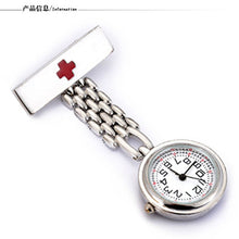 Fashion Red Cross Nurses fob watch quartz movement Gold Doctor fob watches for nurses pendant clip-on
