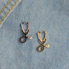 Stethoscope Brooch Pins For Doctors Nurse Student Jacket Coat Collar Lapel Pin Button Badge Medical Jewelry
