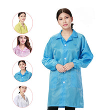 Unisex Medical Clothing Dustproof Anti-static Clothes Work Wear Coat Long Sleeve Men Women Working Uniform H9