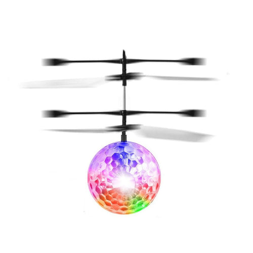 Remote Control Flying Crystal Ball LED Flashing Light Infrared Induction Helicopter Ball Funny Toy Gift For Kids - Aevry's