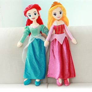 65cm Princess Snow White Cinderella Ariel Belle Rapunzel Aurora Plush Doll Toys Great Gift For Girls - Aevry's