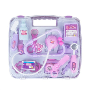 14Pcs Pretend Play Medical Kit Nurse Toy with Stethoscope for Toddlers Boys and Girls (Purple)