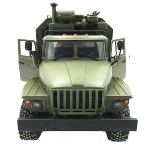 Moo1/16 2.4G 6WD RC Car Military Truck Rock Crawler Command Communication Vehicle RTR Toy Green 2018 Christmas Gift