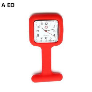 Silicone Nurse Watch Brooch Fob Watch With Free Battery
