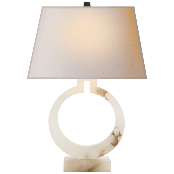 Alabaster Ring Form Large Table Lamp