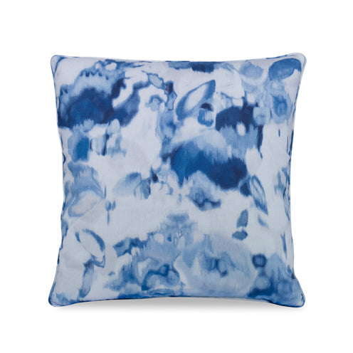 Blue Floral Haze Pillow