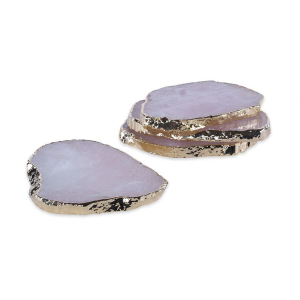 Aitana Rose Quartz Coasters Set of Four