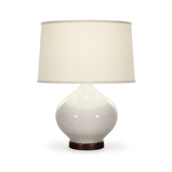 Talbot Table Lamp Ivory Crackle